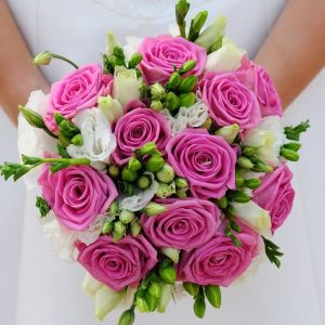Pink Rose Brides Bouquet